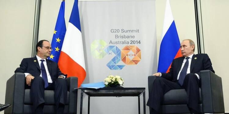 Vladimir Poutine et François Hollande n'évoquent pas le Mistral
