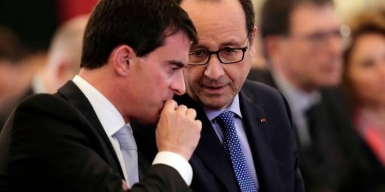 Hollande et Valls perdent 3 pts dans un sondage, Sarkozy chute