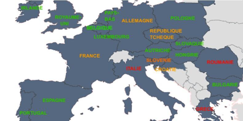 Les pays européens où la croissance patine… et ceux où elle redémarre