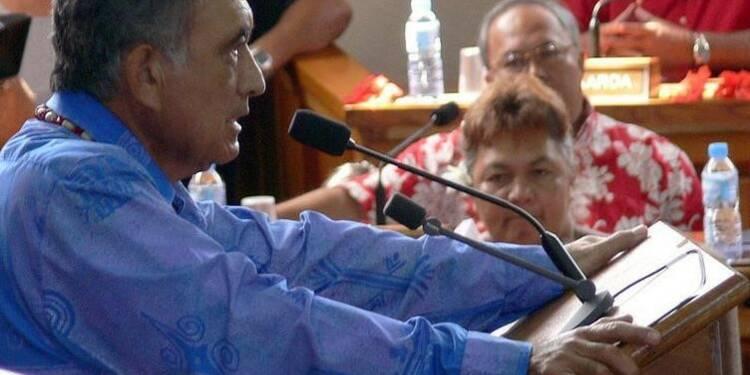 Gaston Flosse relaxé dans l'affaire de l'atoll de Anuanuaro