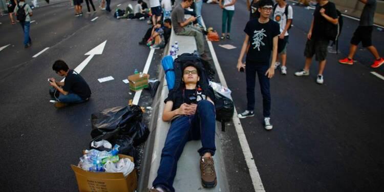 Mobilisation à Hong Kong avant la Fête nationale chinoise