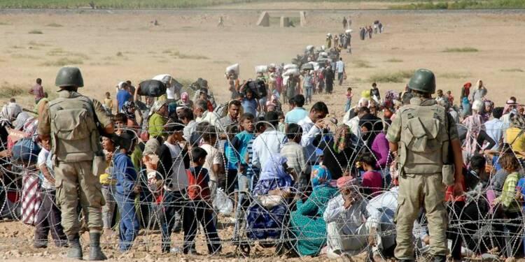 Exode de Kurdes syriens en Turquie face aux djihadistes