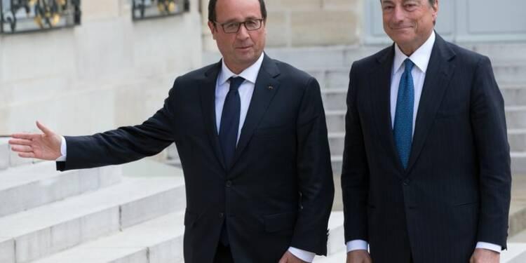 L'Elysée se félicite du diagnostic partagé de Hollande et Draghi