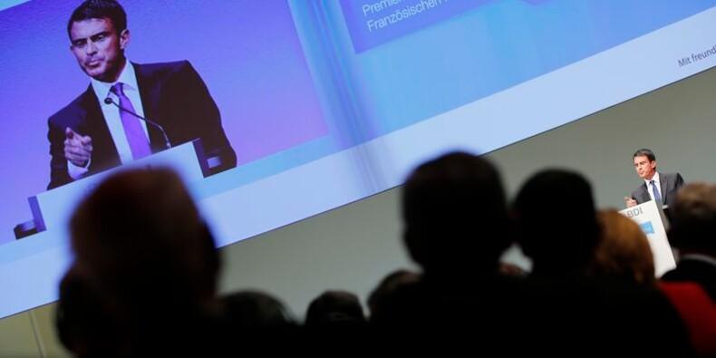 Manuel Valls défend ses réformes devant le patronat allemand