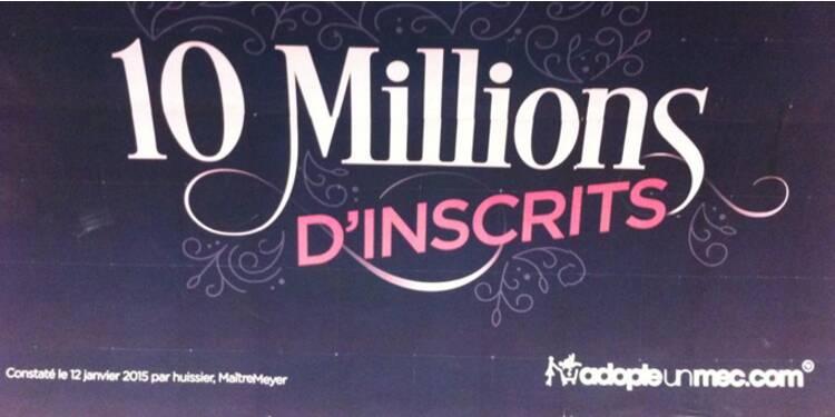 Non, AdopteUnMec n'a vraiment pas 10 millions de membres !