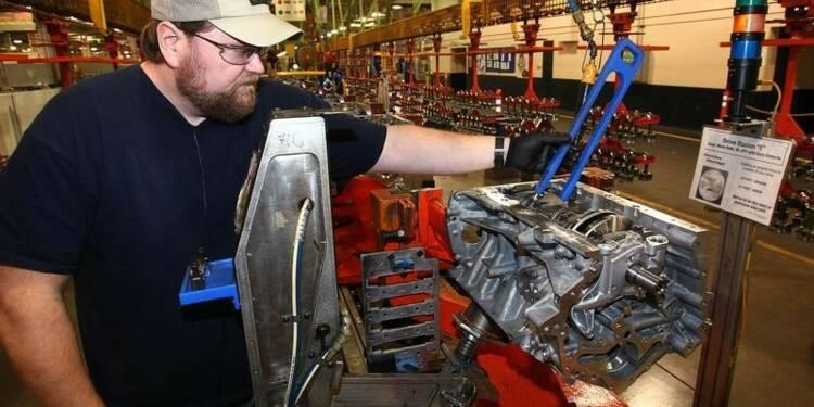 Forte hausse de la production manufacturière aux Etats-Unis
