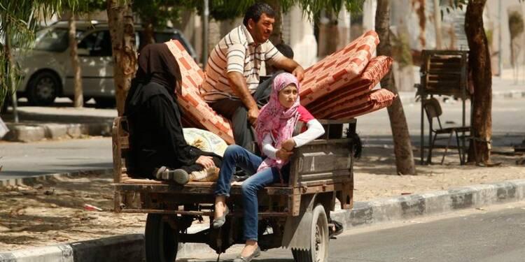 Exode de civils dans le nord de la bande de Gaza