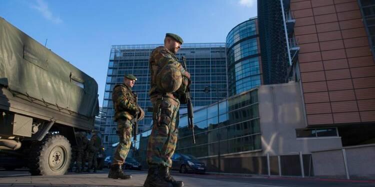 Des militaires déployés en protection en Belgique