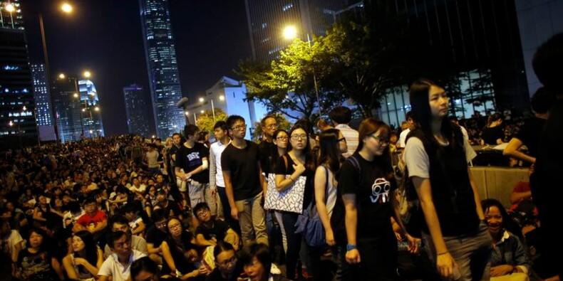Des milliers de manifestants dans le centre de Hong Kong