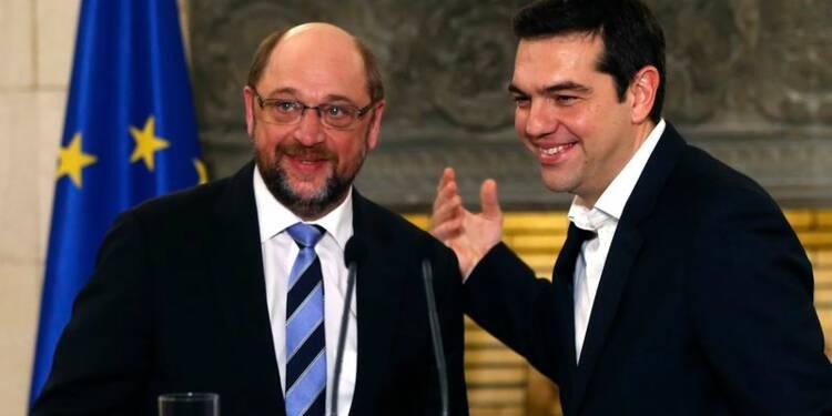 Martin Schulz encouragé par ses échanges avec Tsipras à Athènes