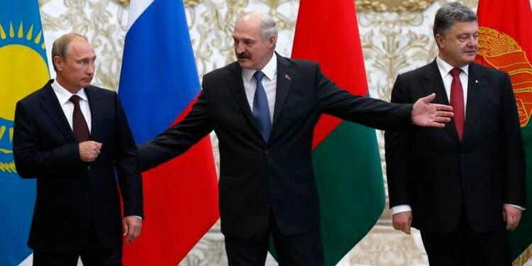 Dialogue difficile entre Poutine et Porochenko à Minsk