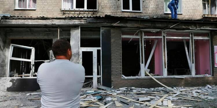Combats à Louhansk et Donetsk, fiefs rebelles de l'est ukrainien