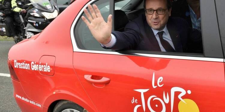Hollande à la reconquête sur le Tour et le Chemin des Dames