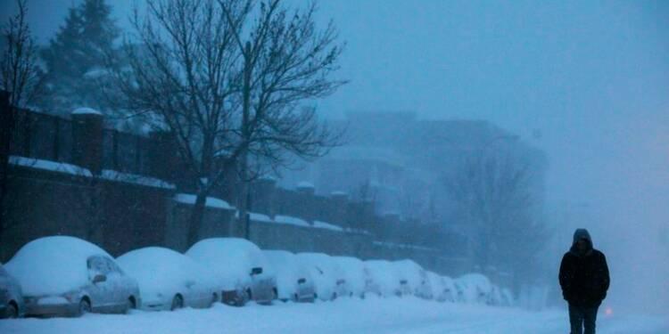Tempête de neige moins forte que prévu aux Etats-Unis