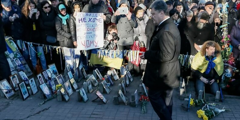 "Des proches des morts d'""Euromaïdan"" critiquent Petro Porochenko"