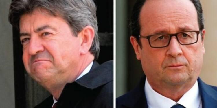 """Hollande, """"liquidateur"""" de la pensée de Jaurès, selon Mélenchon"""