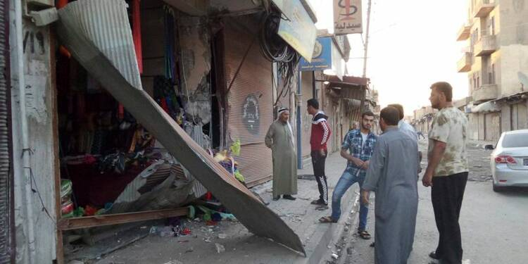 Premiers raids de la coalition contre l'EI en Syrie
