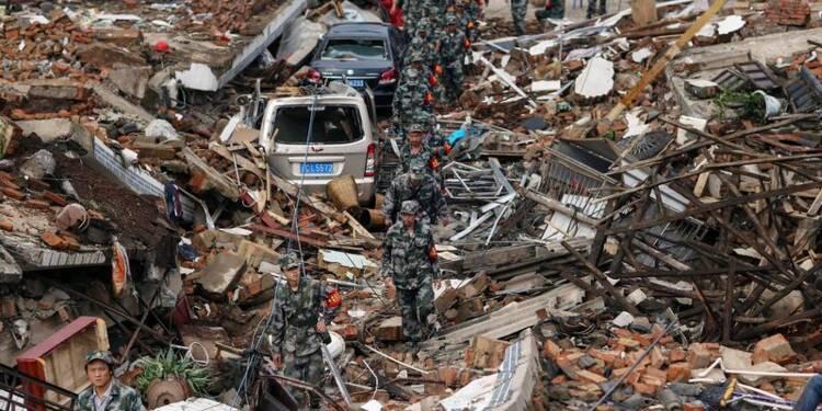 Près de 400 morts dans le tremblement de terre en Chine
