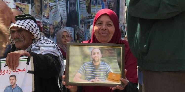 Mobilisation à Ramallah en soutien aux prisonniers palestiniens