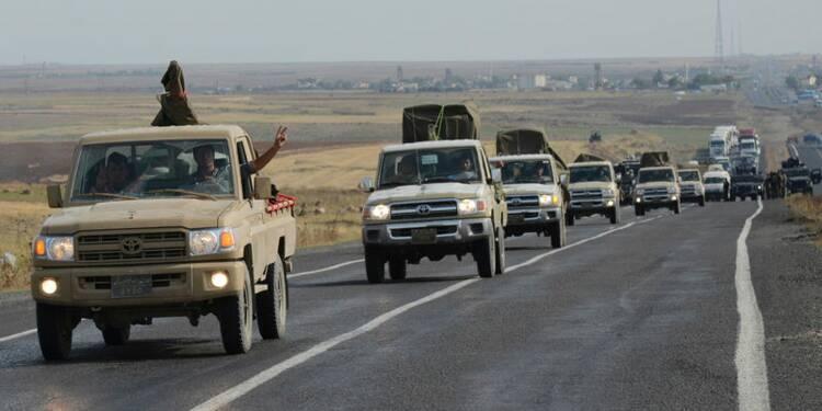 Les combattants kurdes irakiens sont arrivés à Kobani