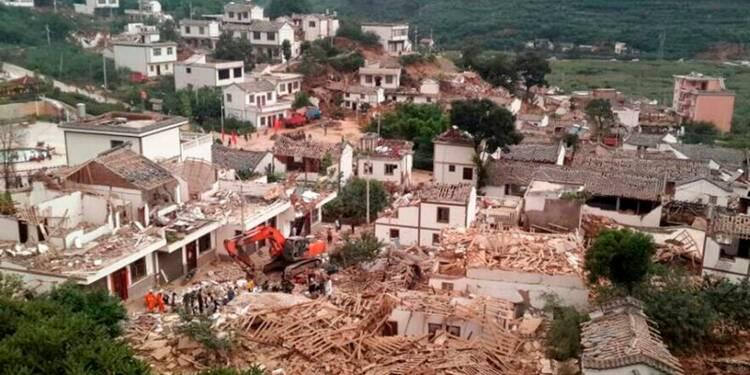 Au moins 175 morts dans un tremblement de terre en Chine