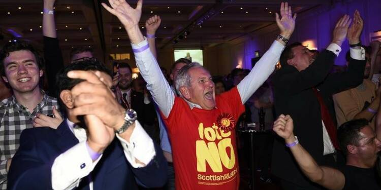 """Le """"non"""" en tête en Ecosse après dépouillement de 60% des voix"""