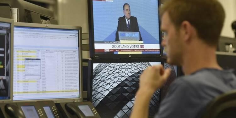 Les marchés financiers britanniques soulagés après le non écossais