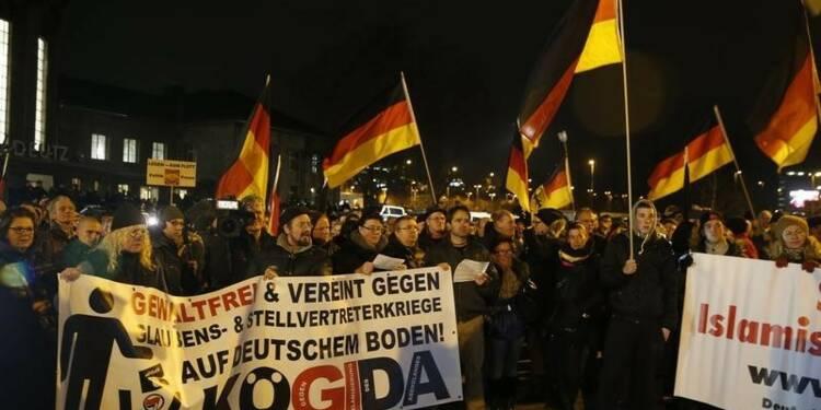 Manifestations de Pegida et contre-manifestations en Allemagne