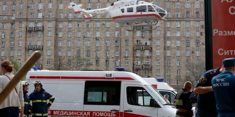 Une rame de métro déraille à Moscou, au moins 20 morts