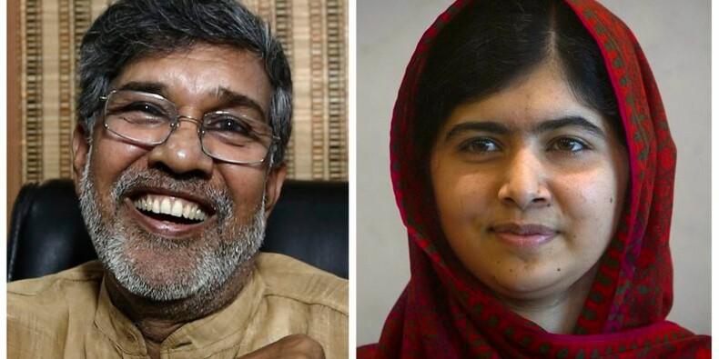 Le Nobel de la paix à Malala Yousafzaï et Kailash Satyarthi