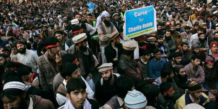 Cinq mille manifestants contre Charlie Hebdo au Pakistan