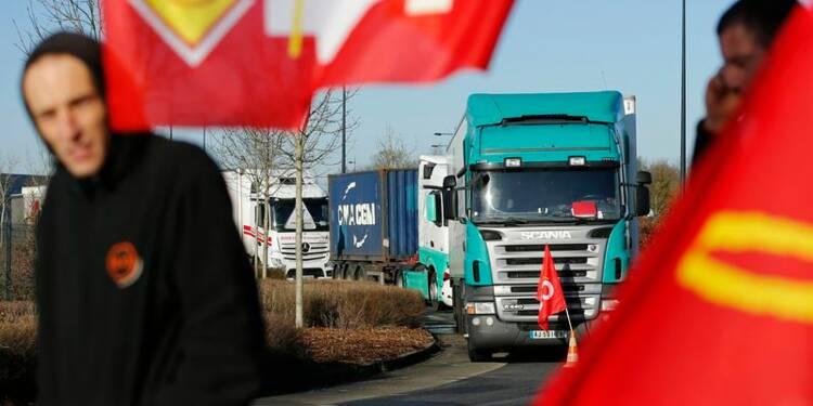 Manifestations de routiers autour des grandes villes en France