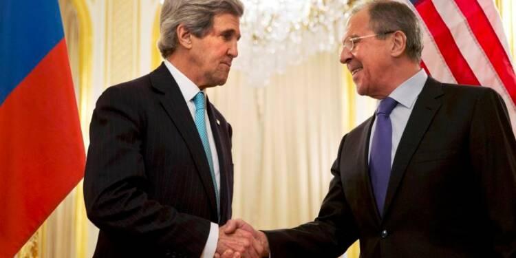 Kerry et Lavrov ont discuté quatre heures à Paris sur l'Ukraine