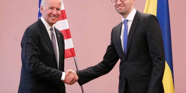 A Kiev, Joe Biden offre l'aide des Etats-Unis à l'Ukraine