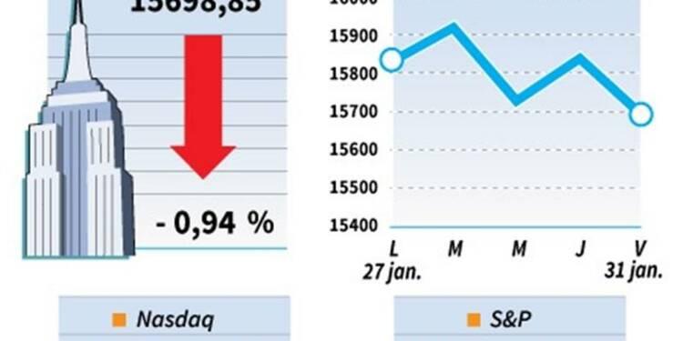 Le Dow Jones perd 0,95% à la clôture, le Nasdaq cède 0,47%