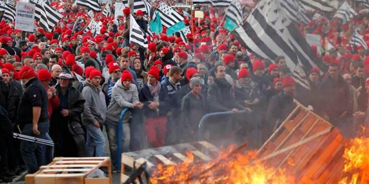 Heurts à Quimper lors d'une manifestation contre l'écotaxe