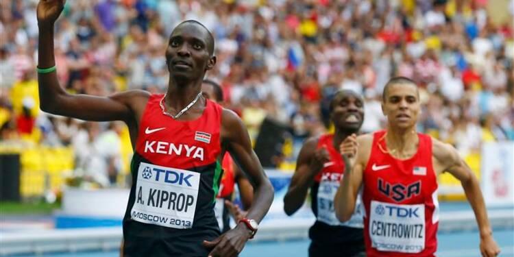 Athlétisme: le Kényan Asbel Kiprop en or sur 1.500 mètres