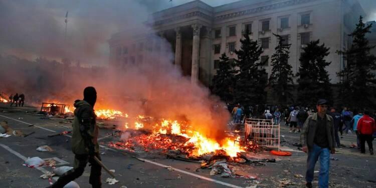 Le Kremlin accuse Kiev et l'Occident pour les morts d'Odessa
