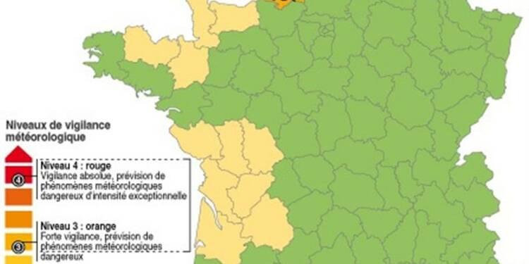 Vigilance orange contre la pluie dans trois départements