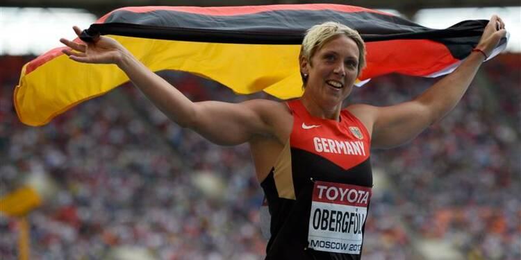 Athlétisme: l'Allemande Christina Obergföll enfin sacrée au javelot