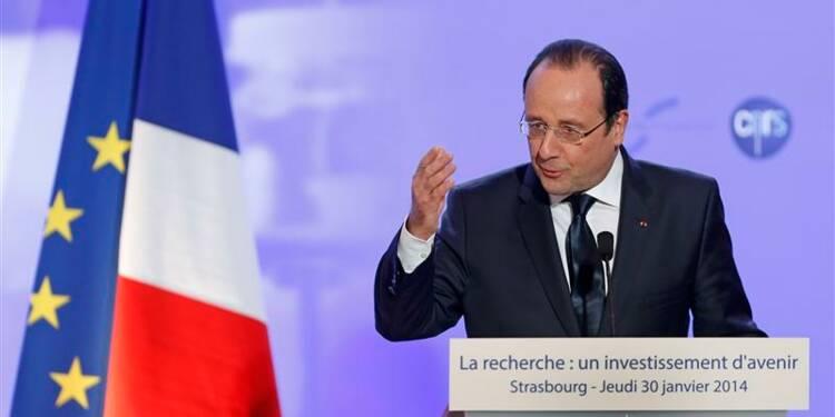 Hollande promet de sanctuariser les crédits de la recherche