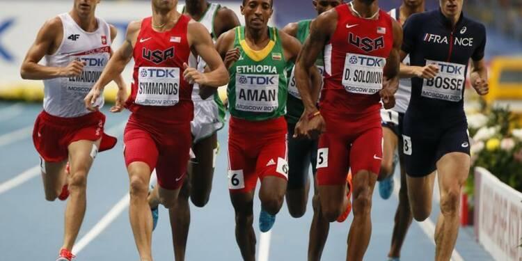 Athlétisme: Aman sacré sur 800 mètres, Bosse septième