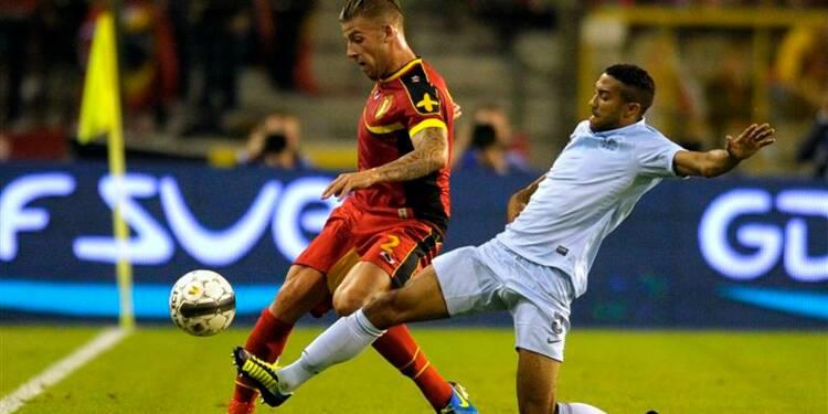 Football: la France fait match nul  0-0 en Belgique