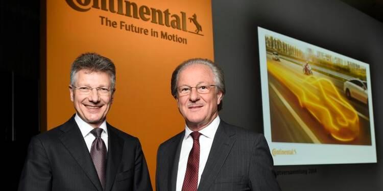 Continental relève sa prévision de marge 2014