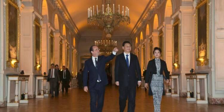 Une soirée franco-chinoise à Versailles clôt la visite de Xi