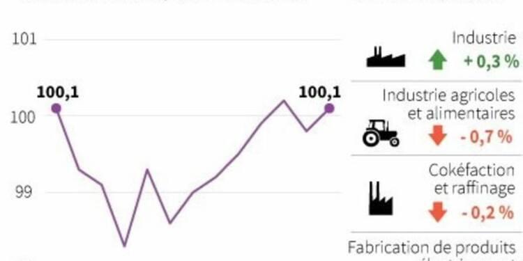 Rebond de 0,3% de la production industrielle en France en avril