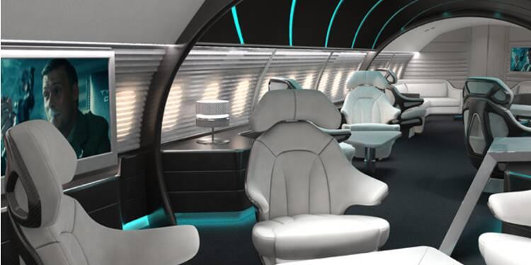 Jet privé, déco raffinée, vue sur la planète