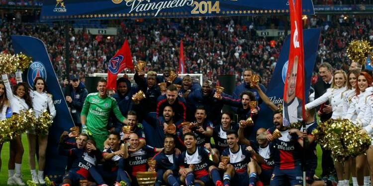 Football: le PSG bat Lyon et s'offre la Coupe de la Ligue