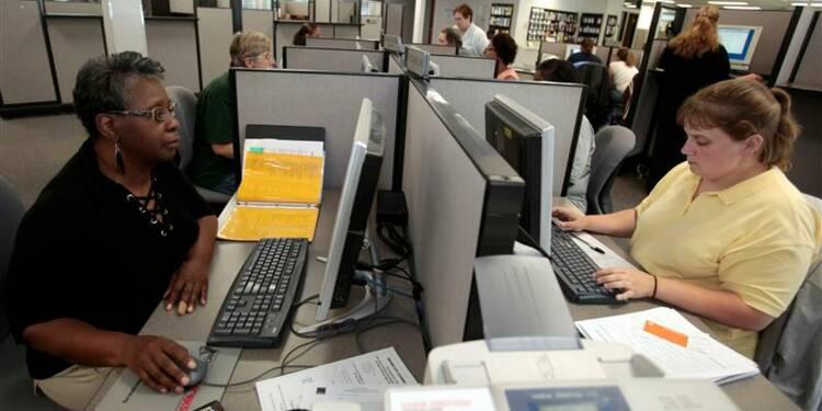 Hausse moins marquée que prévu des inscriptions au chômage