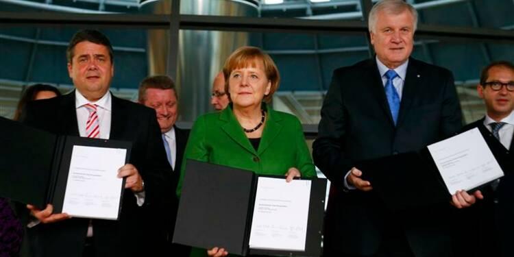 Accord gouvernemental entre la CDU d'Angela Merkel et le SPD